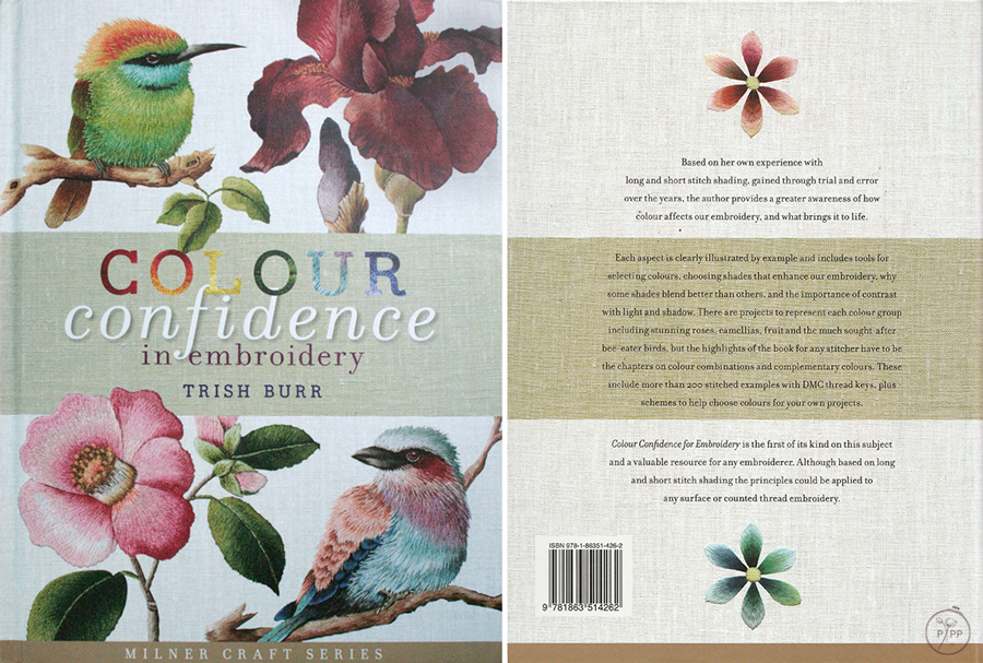 couverture du livre colour confidence in embroidery de Trish Burr