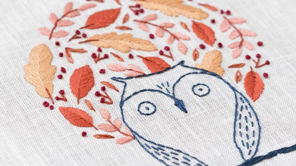 collection sweet autumn - chouette - modèle broderie - patience et petits points