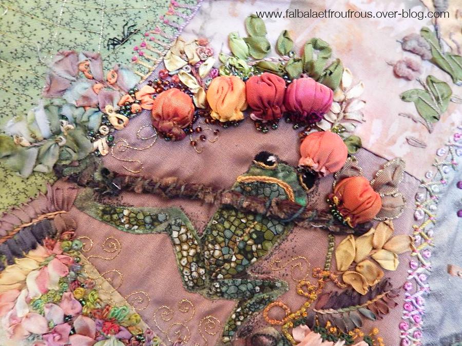 Grenouille crazy quilt