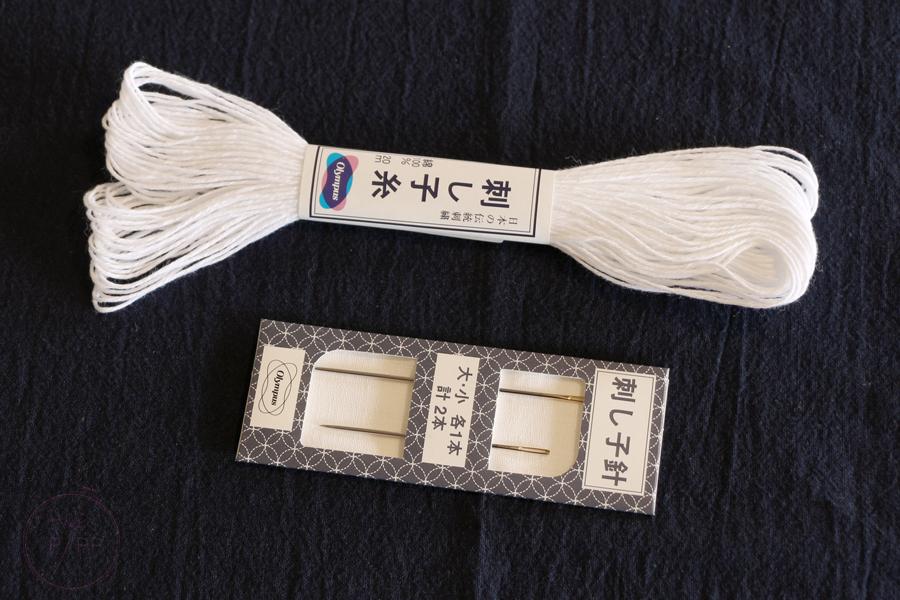 fil et aiguilles pour broderie sashiko