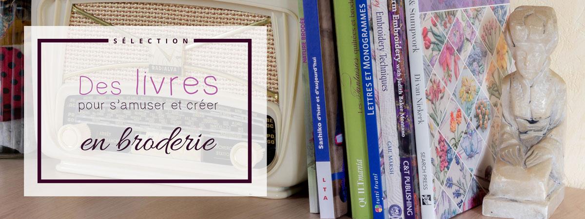 des livres pour s'amuser et créer en broderie