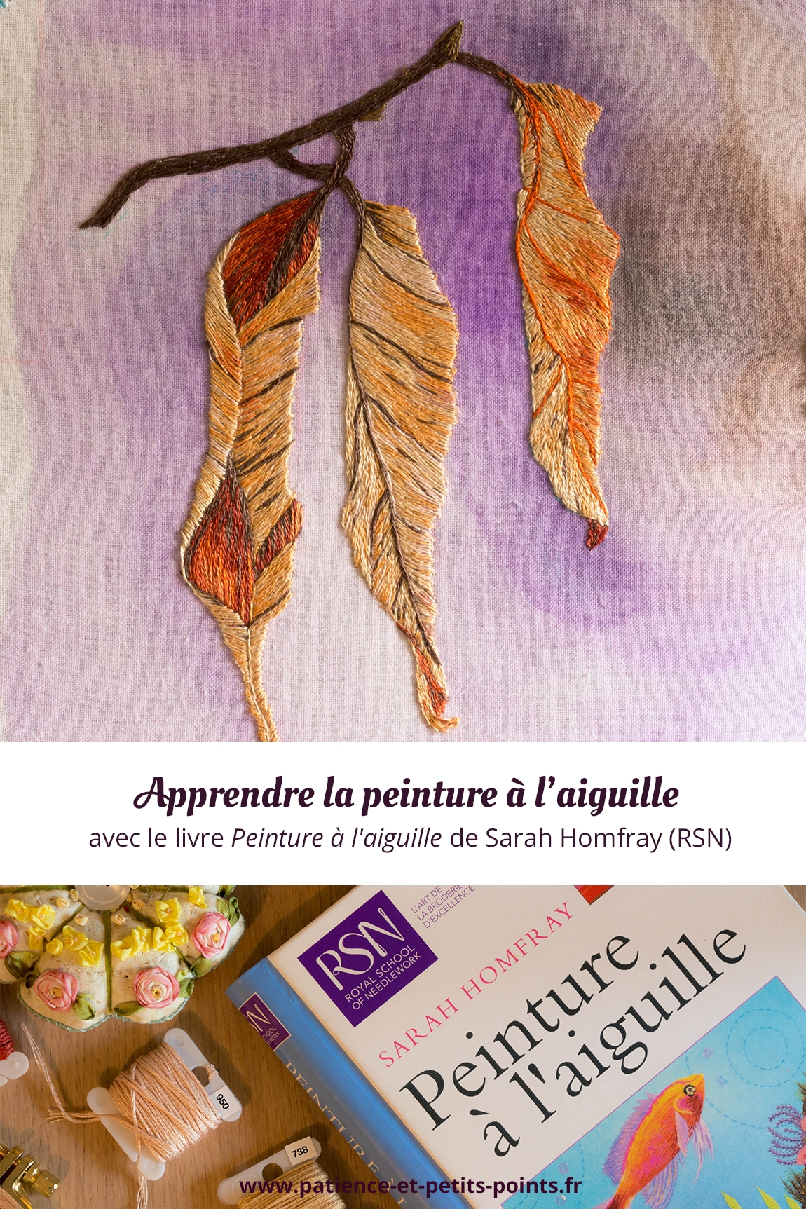 Découvrez le livre Peinture à l'aiguille de Sarah Homfray sur le blog de Patience et petits points