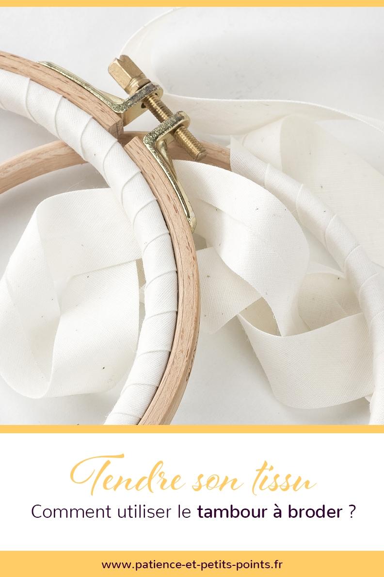 Comment tendre son tissu avec un tambour à broder ?