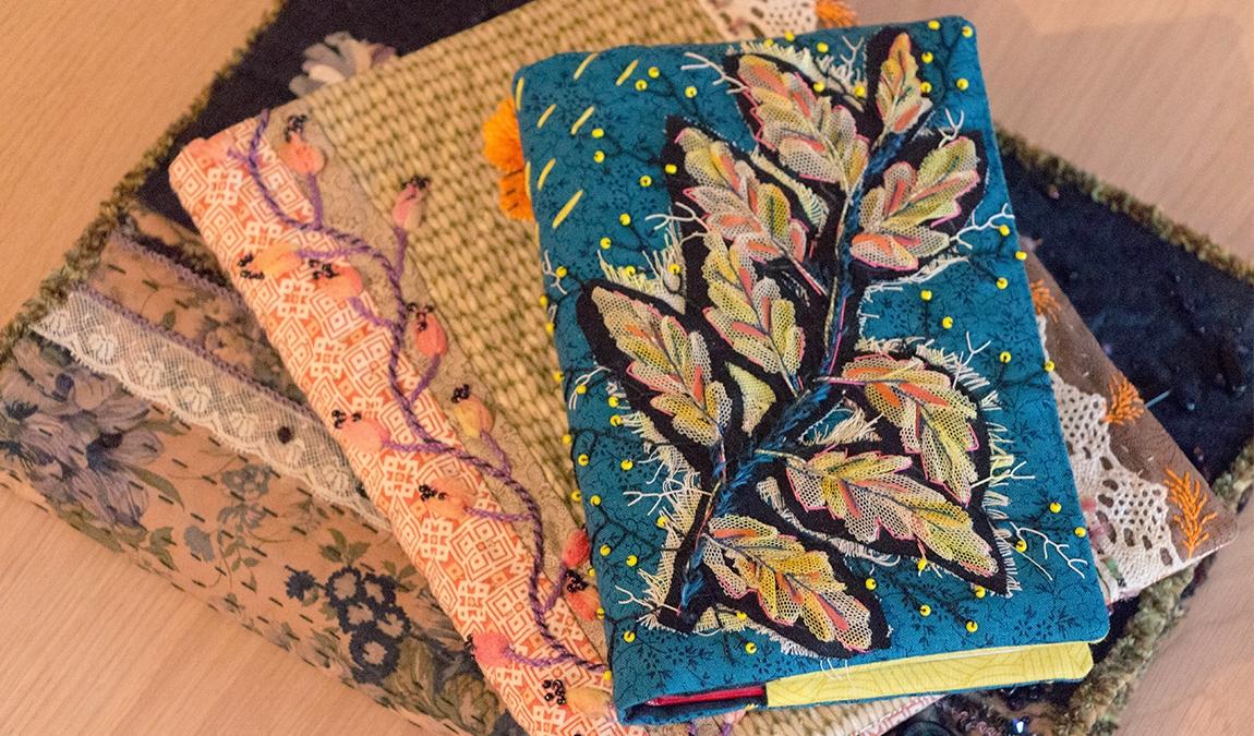 couverture de cahier en tissu