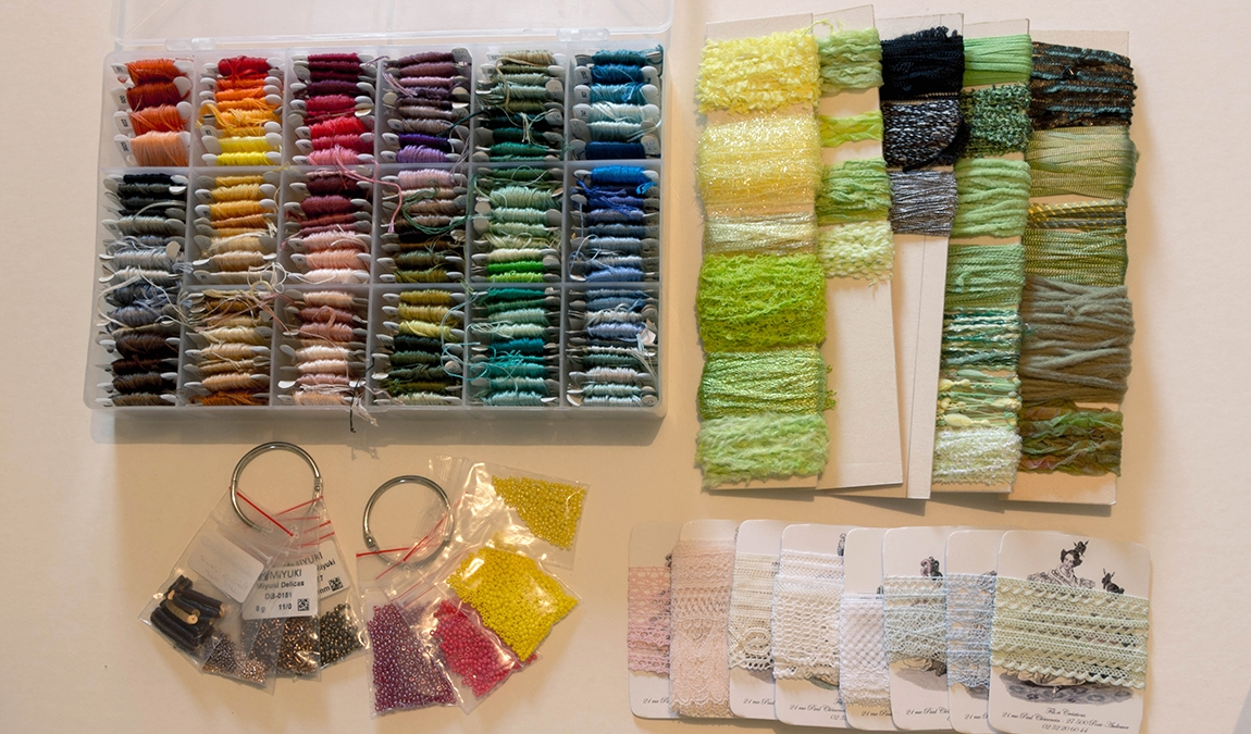 Le matériel de la brodeuse : les matières à broder