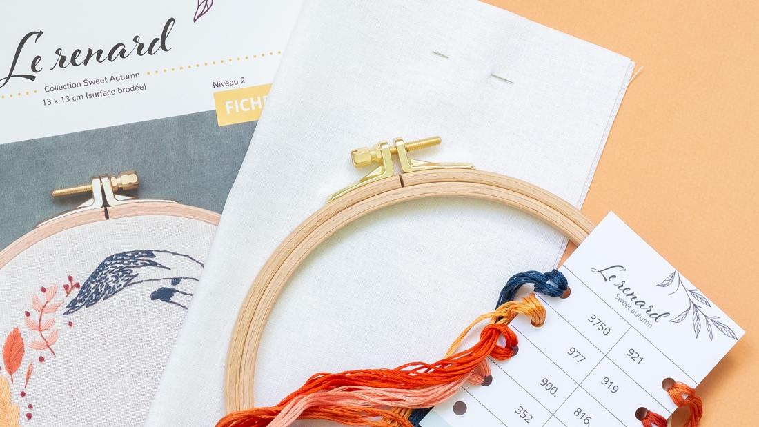 Contenu d'un kit Sweet Autumn - disponible sur Patience et Petits Points