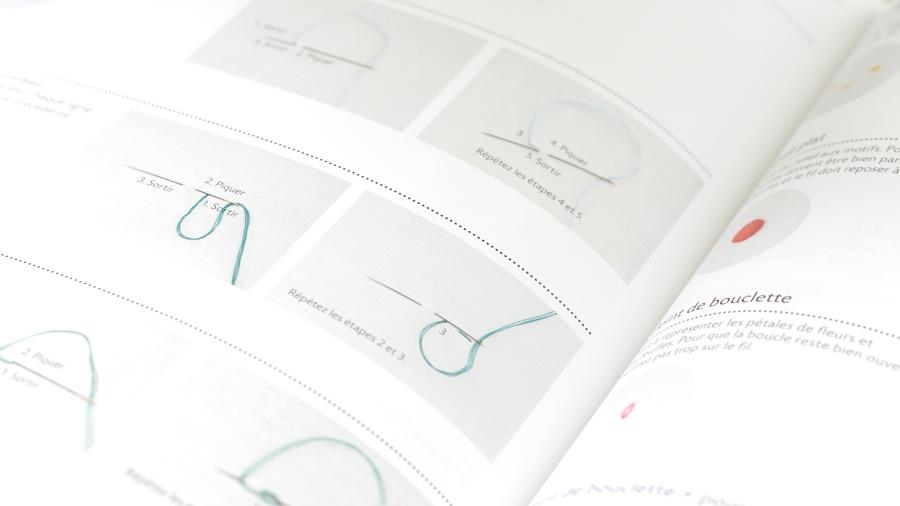 """aperçu d'une page """"techniques"""" du livre 38 motifs nature à broder de Yumiko Higuchi"""