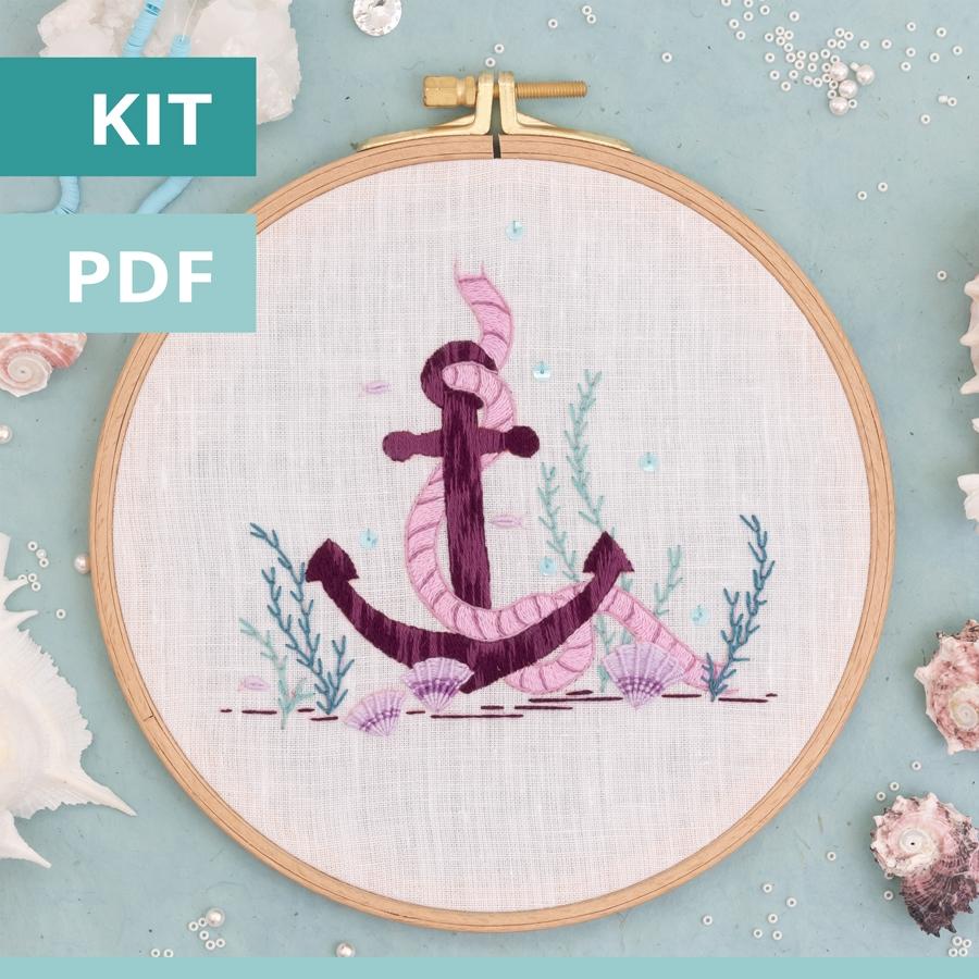 L'ancre marine - modèle de broderie PDF - Patience & Petits Points