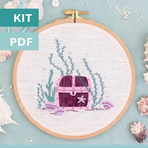 Le coffre aux trésors - modèle de broderie PDF - Patience & Petits Points