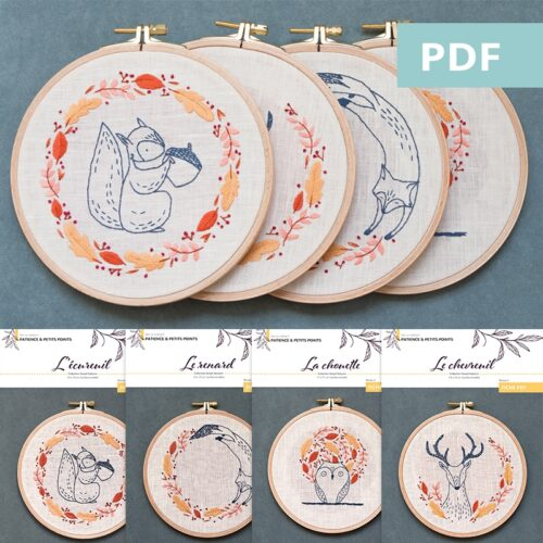 Collection Sweet autumn - motif de broderie en PDF - Patience & Petits Points