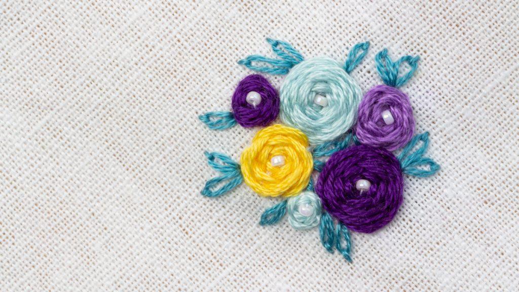 Le point de roue - bouquet de roses