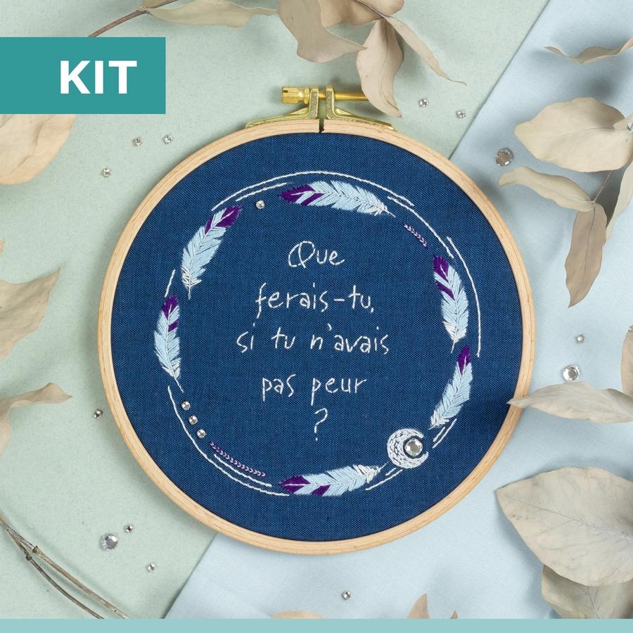 Lune argentée - kit de broderie - Patience & Petits Points